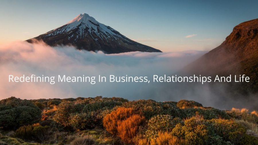 Redefining meaning in business, relationships and life